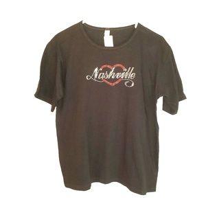 """NWT """"Nashville"""" Rhinestone T-Shirt UNISEX size M"""